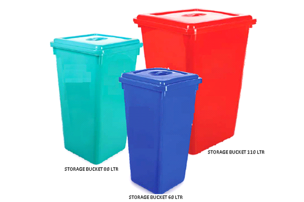 Storage Bucket With Flat Lid#alt_tagStorage Bucket With Flat Lid